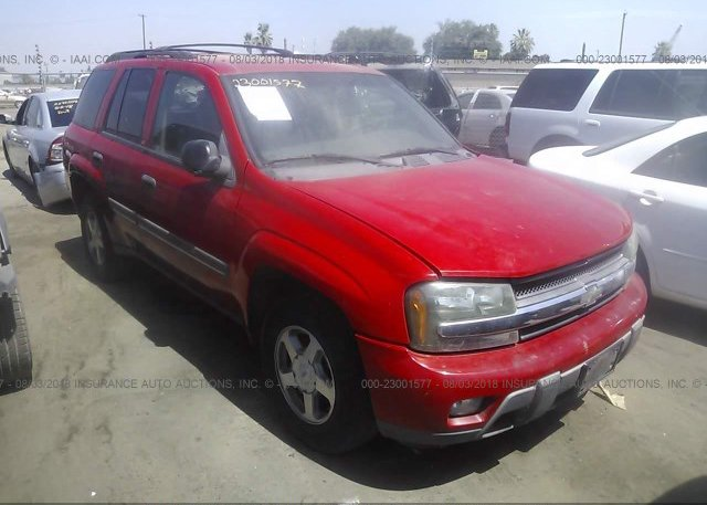 1gnds13s222133937 Clear Dealer Only Red Chevrolet Trailblazer At