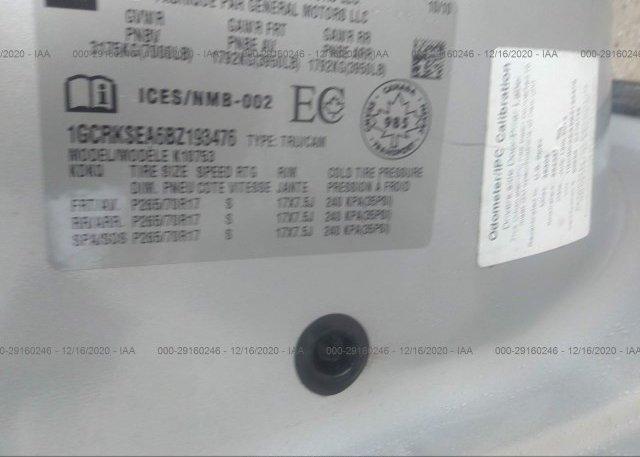 1GCRKSEA6BZ193476 2011 CHEVROLET SILVERADO 1500