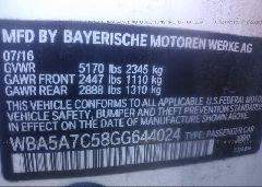2016 BMW 528 - WBA5A7C58GG644024 engine view