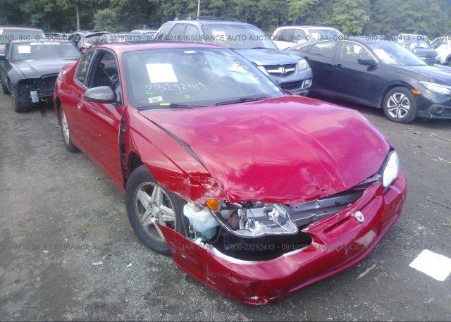 2005 Chevrolet MONTE CARLO   2G1WX12K359264037 X2 · 2005 ...