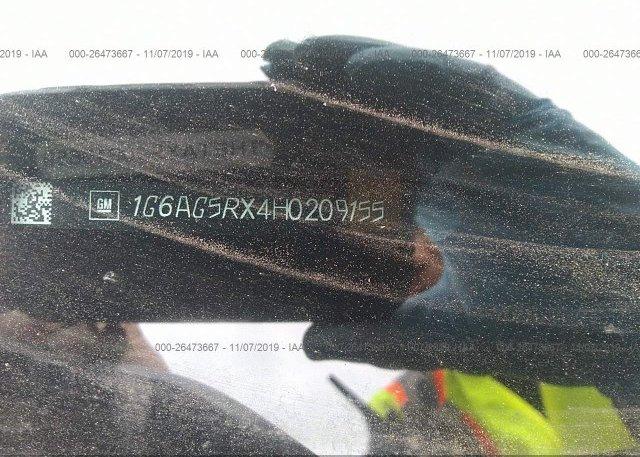 2017 CADILLAC ATS - 1G6AG5RX4H0209155