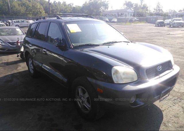 Inventory #626487587 2003 Hyundai SANTA FE