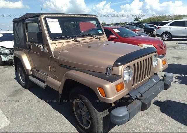 1999 Jeep Wrangler For Sale >> 1j4fy49s9xp418289 Clear Brown Jeep Wrangler Tj At