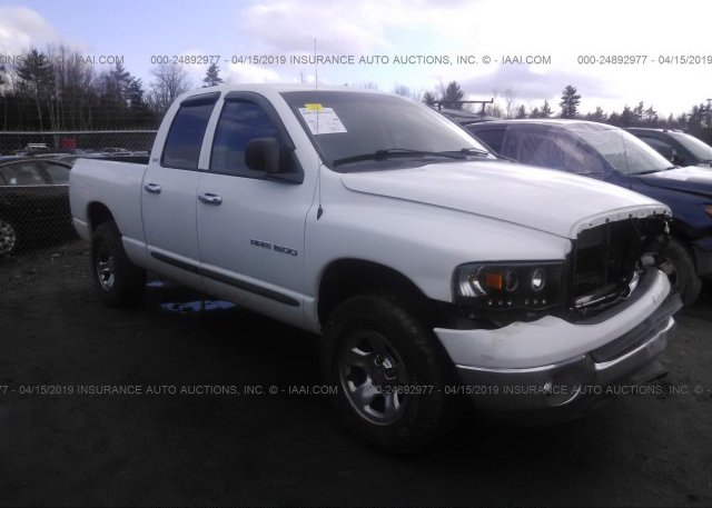 1D7HU18N82S608178, Salvage white Dodge Ram 1500 at GORHAM