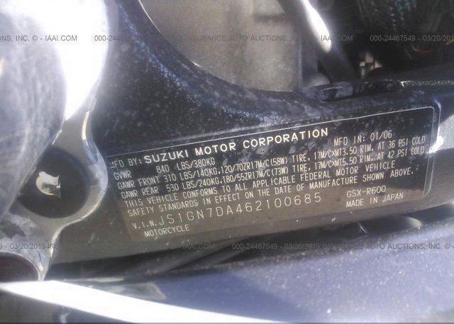 2006 Suzuki GSX-R600 - JS1GN7DA462100685
