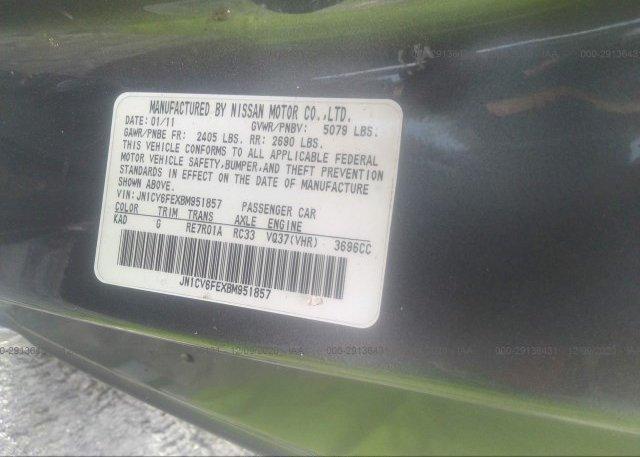 JN1CV6FEXBM951857 2011 INFINITI G37 CONVERTIBLE