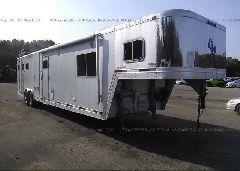 1998 EXXISS ALUMINUM TRAILERS HORSE TRAILER