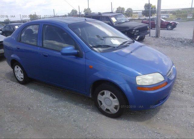 Inventory #292605902 2004 Chevrolet AVEO