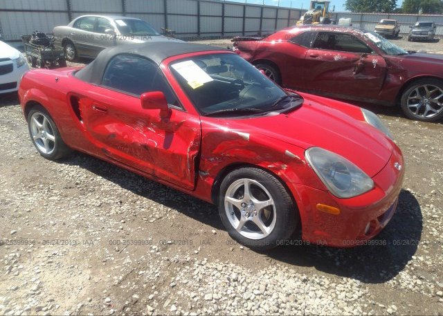 Jtdfr320650071032 Salvage Certificate Red Toyota Mr2 At Bay Point