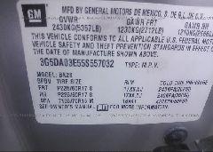 2005 Buick RENDEZVOUS - 3G5DA03E55S557032 engine view