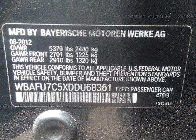 WBAFU7C5XDDU68361 2013 BMW 5 SERIES