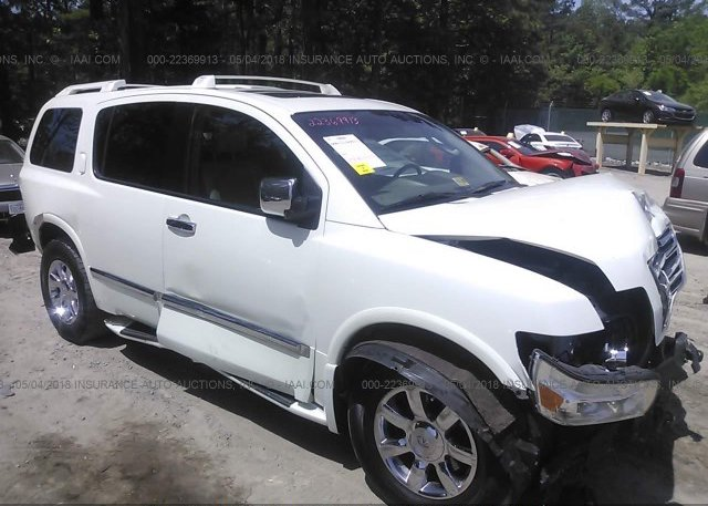 5n3aa08c26n811118 Clear White Infiniti Qx56 At Suffolk Va On