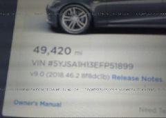 2014 Tesla MODEL S - 5YJSA1H13EFP51899 inside view