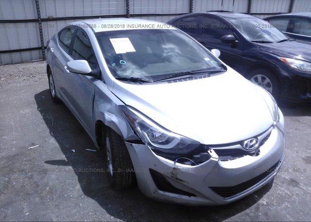 Inventory #587351315 2014 Hyundai ELANTRA