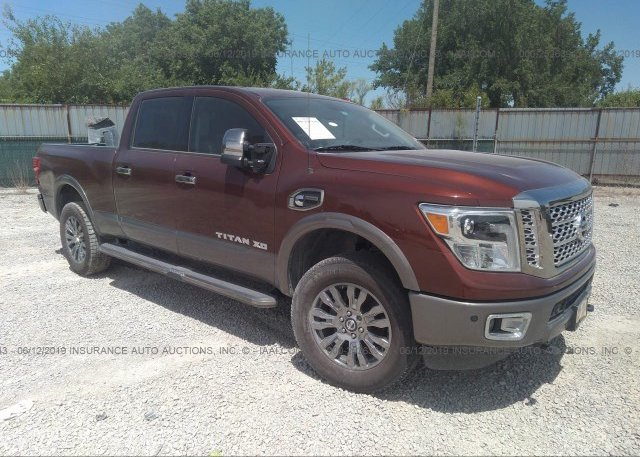1n6ba1f47gn504710 Salvage Brown Nissan Titan Xd At Columbus Oh On