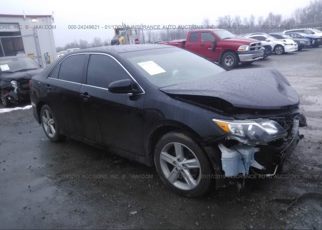 4t1bf1fk5cu083049 Salvage Black Toyota Camry At Eminence Ky On