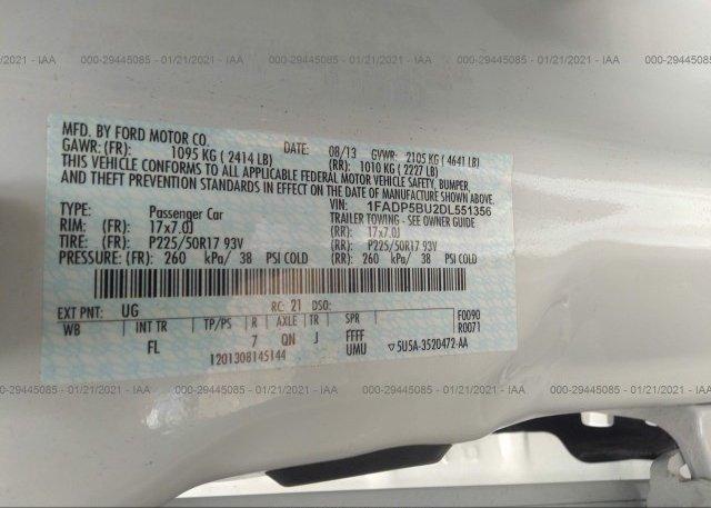 1FADP5BU2DL551356 2013 FORD C-MAX HYBRID