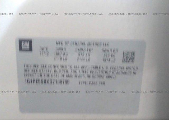 1G1PE5SBXD7188785 2013 CHEVROLET CRUZE