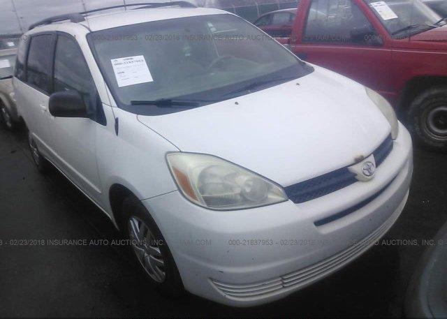 Inventory #833134016 2005 Toyota SIENNA