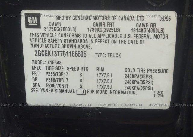 2006 Chevrolet SILVERADO - 2GCEK13T761166606