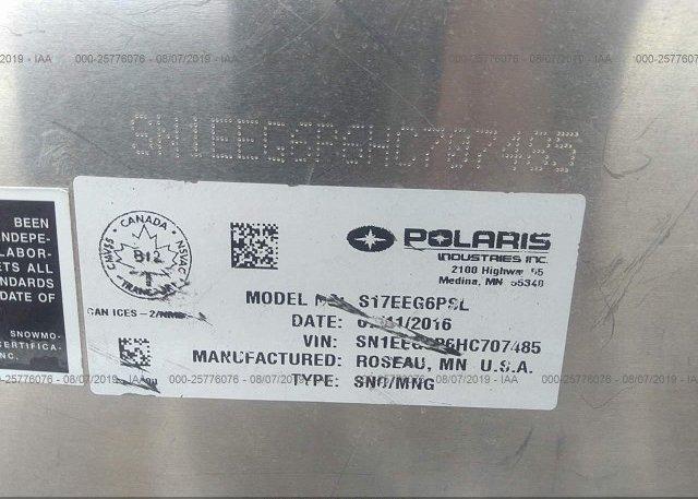 2017 POLARIS INDY 500 RMK - SN1EEG6P6HC707485