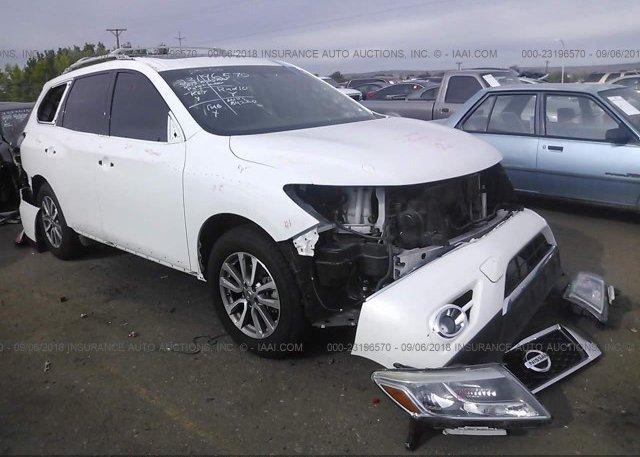 5n1ar2mm6dc642922 Salvage White Nissan Pathfinder At Albuquerque