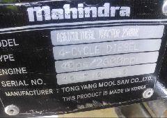 2016 MAHINDRA TRACTOR -  engine view