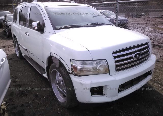 5n3aa08c27n803876 Clear White Infiniti Qx56 At Shirley Ma On