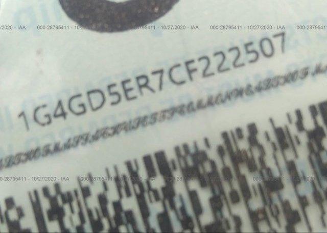 1G4GD5ER7CF222507 2012 BUICK LACROSSE