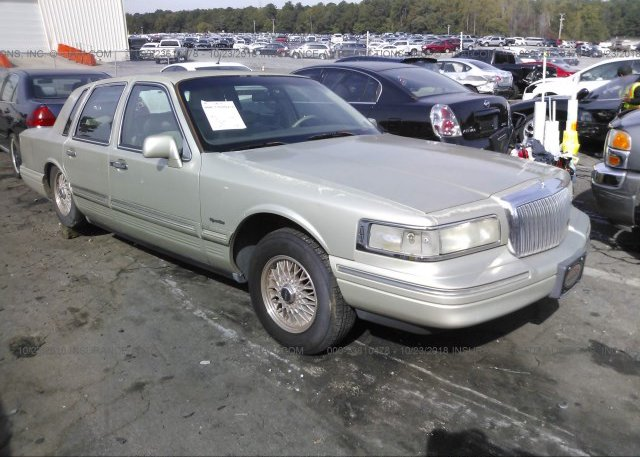 1lnhm81v27y628617 Bill Of Sale Green Lincoln Town Car At Medford
