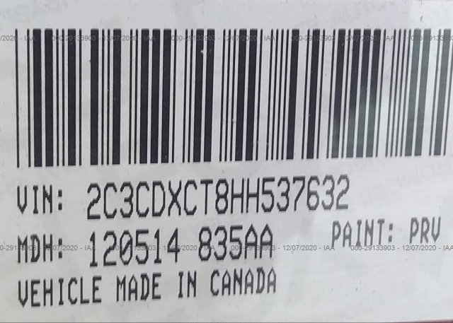 2C3CDXCT8HH537632 2017 DODGE CHARGER
