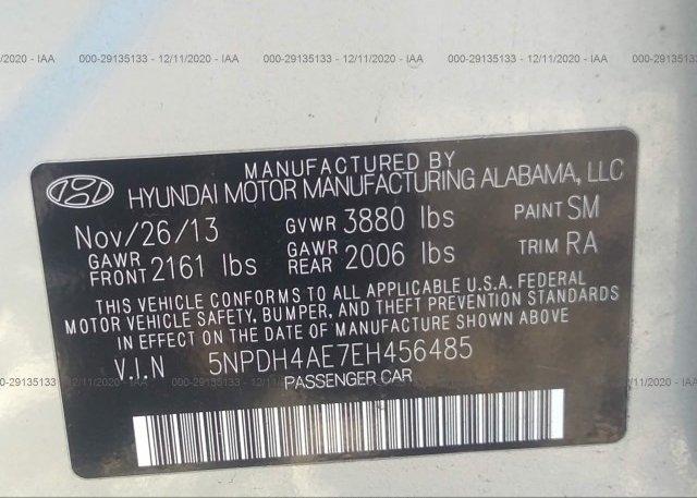 5NPDH4AE7EH456485 2014 HYUNDAI ELANTRA