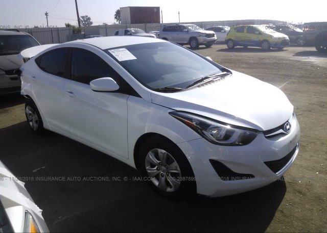 Inventory #291648793 2016 Hyundai ELANTRA