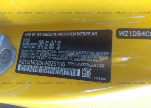 WZ1DB4C05LW025106 2020 TOYOTA GR SUPRA