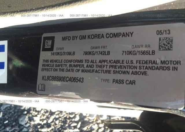 KL8CB6S90EC406543 2014 CHEVROLET SPARK