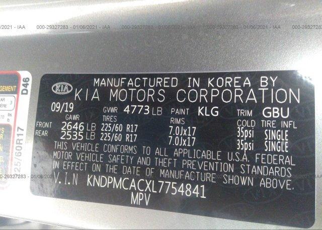 KNDPMCACXL7754841 2020 KIA SPORTAGE