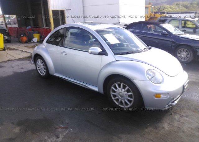 3VWCK31C34M406887, Salvage silver Volkswagen New Beetle at