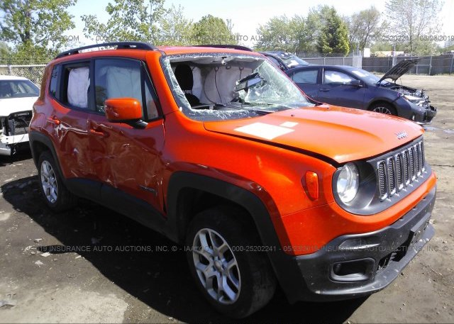 Jeep Renegade Orange >> Zaccjbbt1fpb37271 Salvage Orange Jeep Renegade At Markham