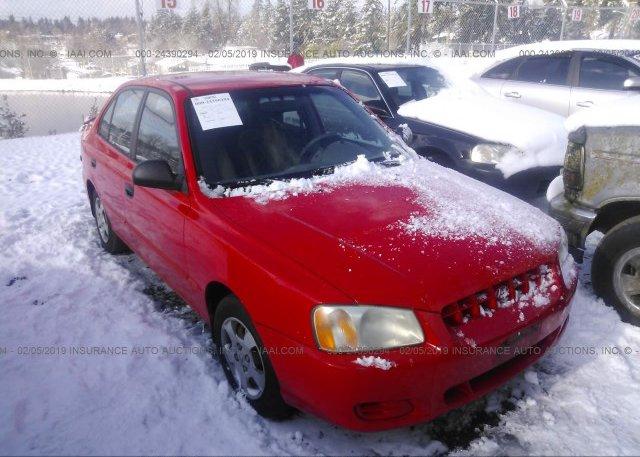 Inventory #554512329 2002 Hyundai ACCENT