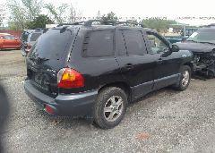 2002 Hyundai SANTA FE - KM8SC73D82U334632 rear view