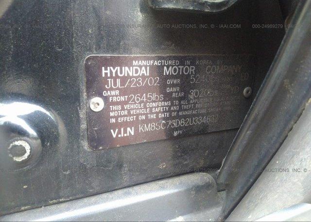 2002 Hyundai SANTA FE - KM8SC73D82U334632