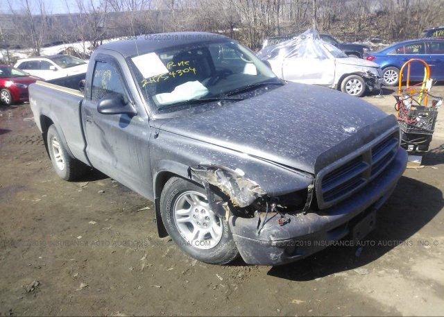 1D7GG16X33S124587, Parts Only Bos gray Dodge Dakota at SAINT