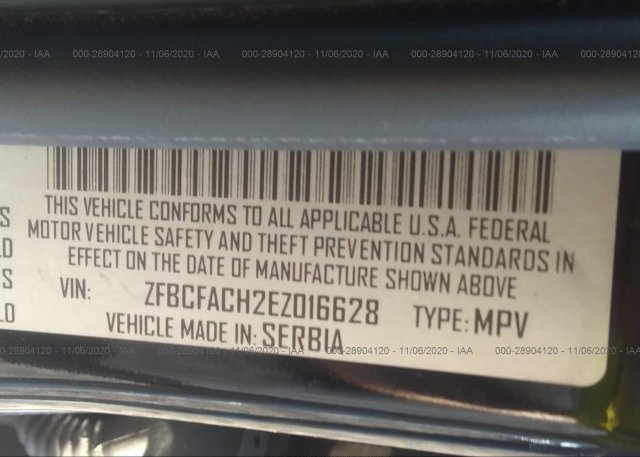 ZFBCFACH2EZ016628 2014 FIAT 500L