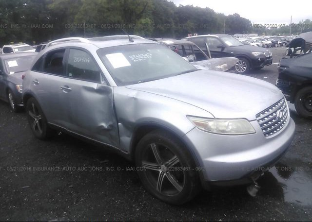 Jnrbs08w66x400575 Clear White Infiniti Fx45 At Carteret Nj On