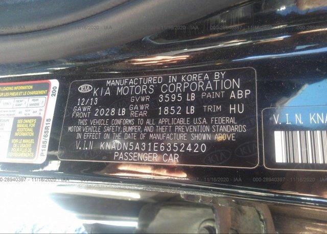 KNADN5A31E6352420 2014 KIA RIO