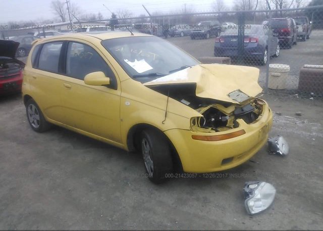 Kl1td66688b152602 Salvage Yellow Chevrolet Aveo At Grove City Oh
