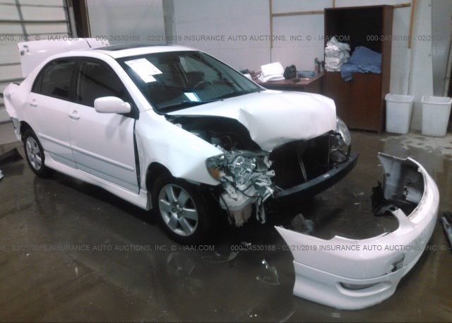 Car Auctions In Nc >> 2t1burhe8gc572029 Salvage White Toyota Corolla At Charlotte