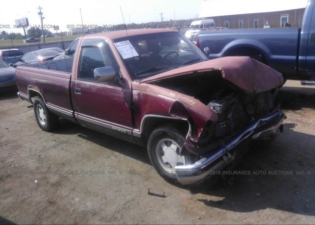 1gtdc14k1jz506167 Salvage Red Gmc Gmt 400 At Oklahoma City Ok On