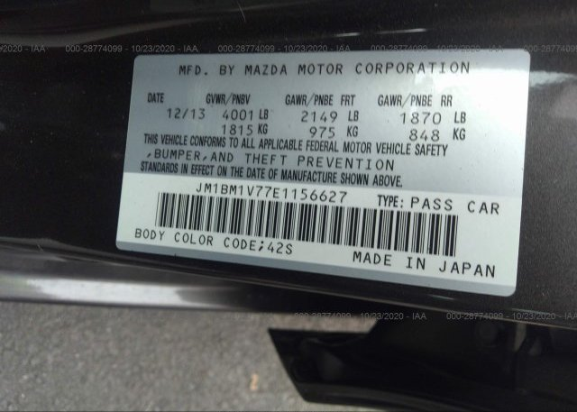 JM1BM1V77E1156627 2014 MAZDA MAZDA3