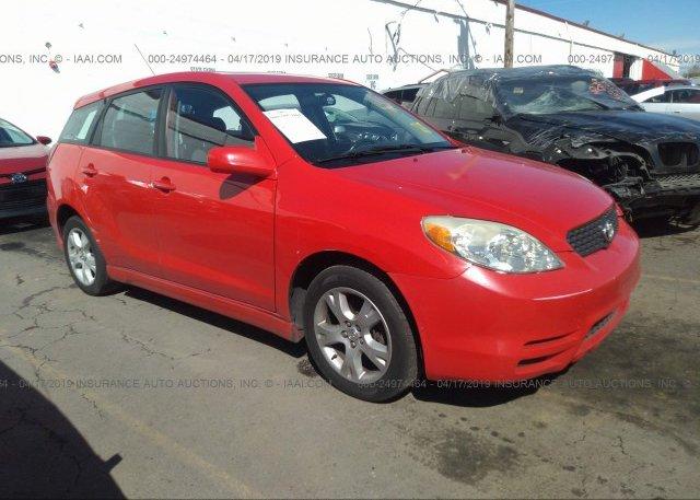 Inventory #390260015 2004 Toyota COROLLA MATRIX